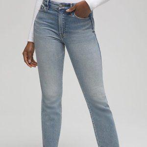 Good American Good Curve Straight Leg Crop Jeans